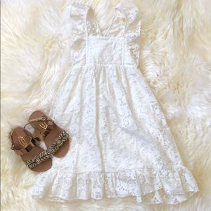 Sado | White Sleeveless Lace Sundress | 2T